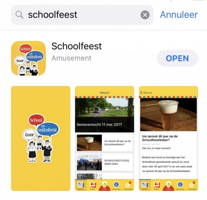 Nieuwe functies in de Schoolfeest app!